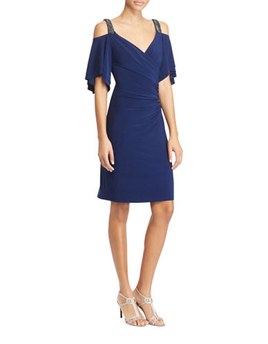 Lauren Ralph Lauren Cut-Out Shoulder Jersey Dress-INDIGO-8