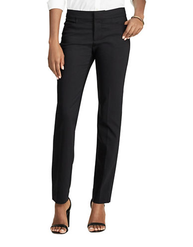 Chaps Stretch Skinny Mid-Rise Pants-POLO BLACK-16
