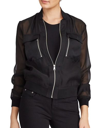 Lauren Ralph Lauren Organza Bomber-POLO BLACK-X-Small 89345283_POLO BLACK_X-Small