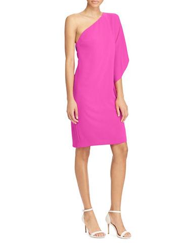 Lauren Ralph Lauren Crepe One Shoulder Dress-BOLD PINK-4