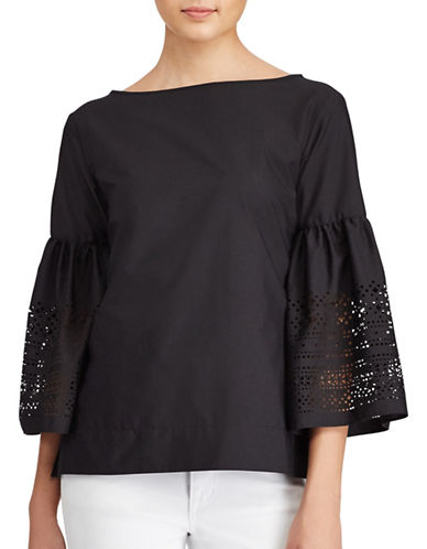 Lauren Ralph Lauren Laser-Cut Shirt-POLO BLACK-X-Small 89345309_POLO BLACK_X-Small
