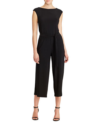 Lauren Ralph Lauren Wide-Leg Jersey Jumpsuit-POLO BLACK-Large