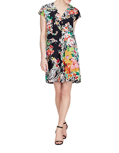 Lauren Ralph Lauren Floral Print Shift Dress-BLACK MULTI-6