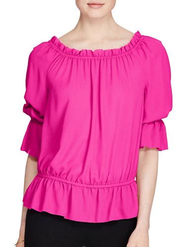 Lauren Ralph Lauren Plus Off-the-Shoulder Top-PINK-3X