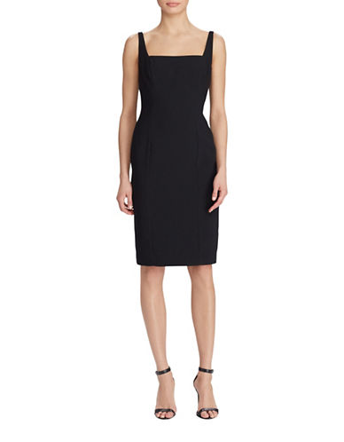 Lauren Ralph Lauren Crepe Sheath Dress-BLACK-14