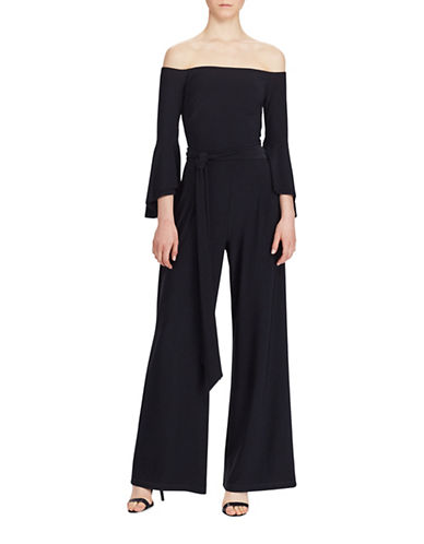 Lauren Ralph Lauren Off-the-Shoulder Jumpsuit-BLACK-6