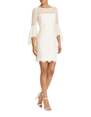 Lauren Ralph Lauren Slim-Fit Lace Bell-Sleeve Dress-IVORY-16