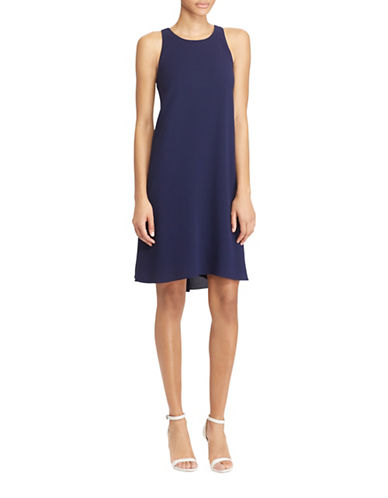 Lauren Ralph Lauren Stretch Crepe A-Line Dress-NAVY-6