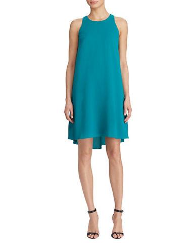 Lauren Ralph Lauren Stretch Crepe A-Line Dress-EMERALD GREEN-12
