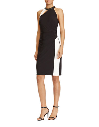 Lauren Ralph Lauren Matte Jersey Cut-Out Dress-BLACK-0