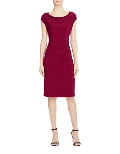 Lauren Ralph Lauren Matte Jersey Dress-RED-14
