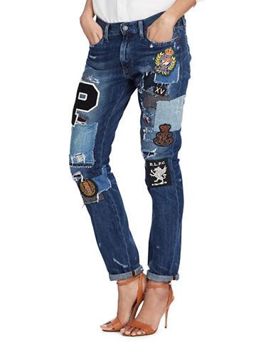 Polo Ralph Lauren Slim Cotton Boyfriend Jeans-BLUE-30