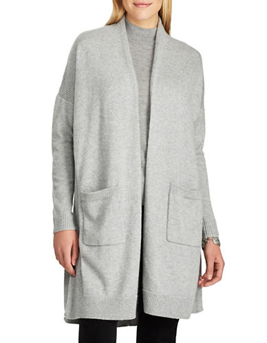Chaps Open-Front Cardigan-GREY-Large