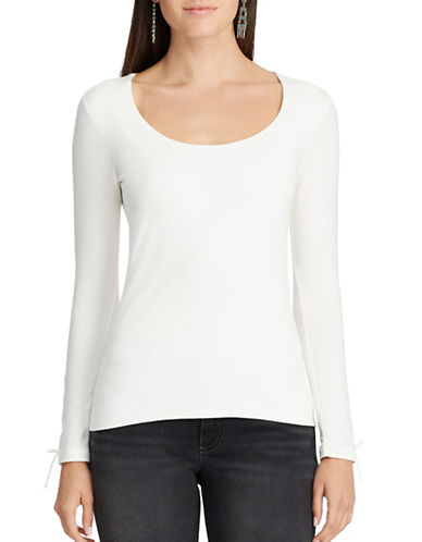Chaps Stretch Jersey Scoop neck Top-PEARL-X-Small
