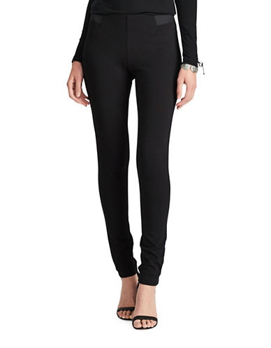 Chaps Stretch Ponte Skinny Leggings-BLACK-X-Large