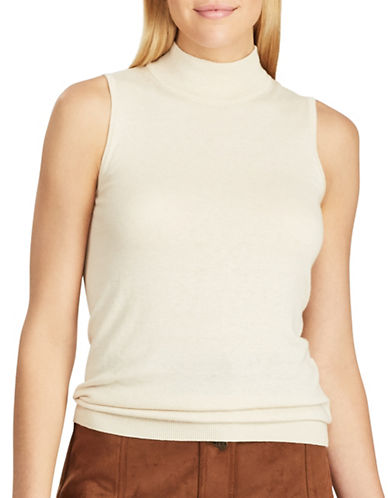 Chaps Sleeveless Ribbed Sweater-BROWN-X-Large