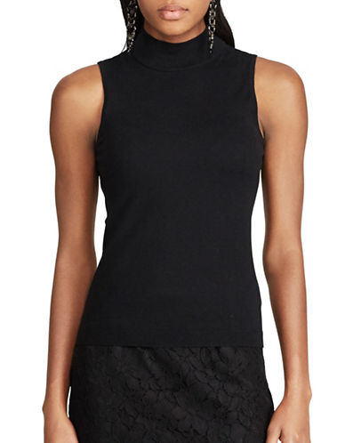 Chaps Sleeveless Sweater-BLACK-X-Large