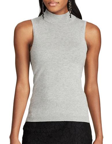 Chaps Sleeveless Sweater-GREY-Large