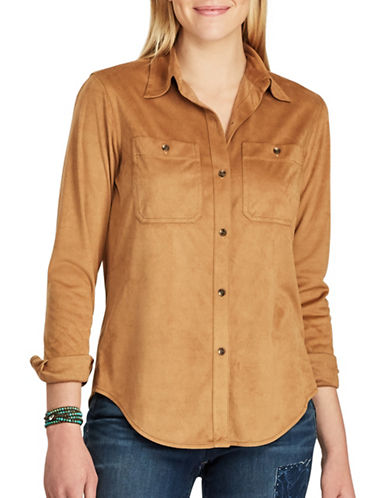 Chaps Long-Sleeve Workshirt-BROWN-X-Large