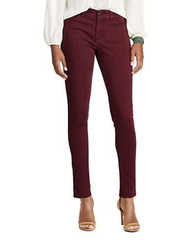 Chaps Mid-Rise Dyed Jeans-RED-14