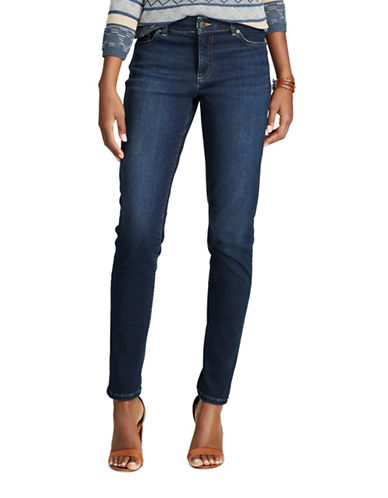 Chaps Four-Way-Stretch Mid-Rise Jeans-BLUE-8