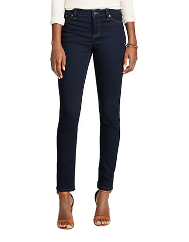 Chaps Mid-Rise Dyed Jeans-BLUE-12