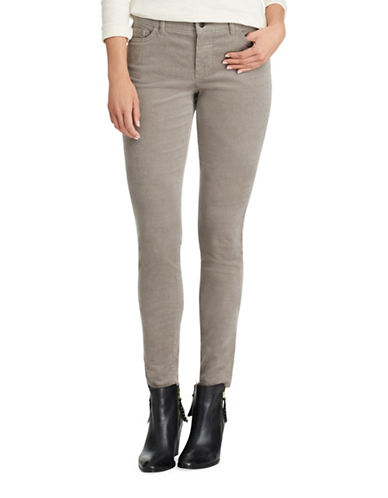 Chaps Four-Way Stretch Corduroy Pants-GREY-6