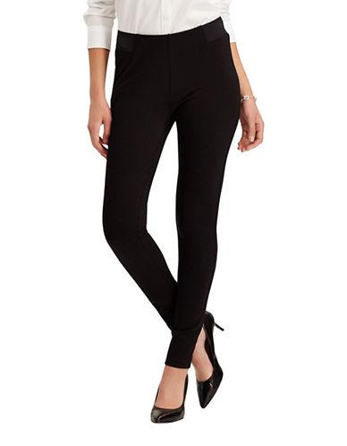 Chaps Petite Skinny Pants-BLACK-Petite X-Large