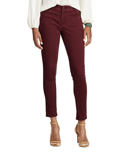 Chaps Petite Mid-Rise Skinny Jeans-RED-Petite 14