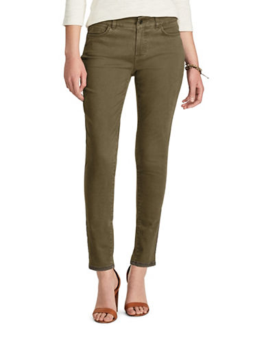 Chaps Petite Mid-Rise Skinny Jeans-BROWN-Petite 4