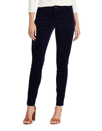 Chaps Petite Velvet Skinny Pants-BLUE-Petite 14