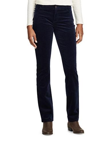 Chaps Petite Carmina Corduroy Pants-BLUE-Petite 16