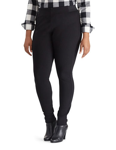 Chaps Plus Elasticized Skinny Leggings-BLACK-3X