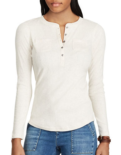 Chaps Petite Brixton Long-Sleeve Cotton Sweater-WHITE-Petite Medium