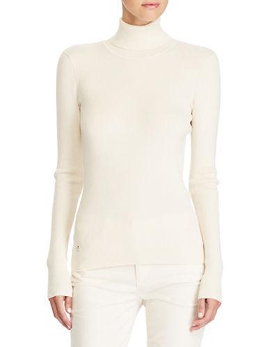 Lauren Ralph Lauren Ribbed Cotton-Blend Turtleneck-NATURAL-X-Large