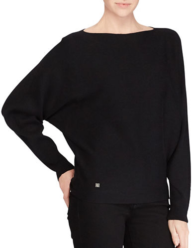 Lauren Ralph Lauren Dolman-Sleeve Sweater-BLACK-X-Large
