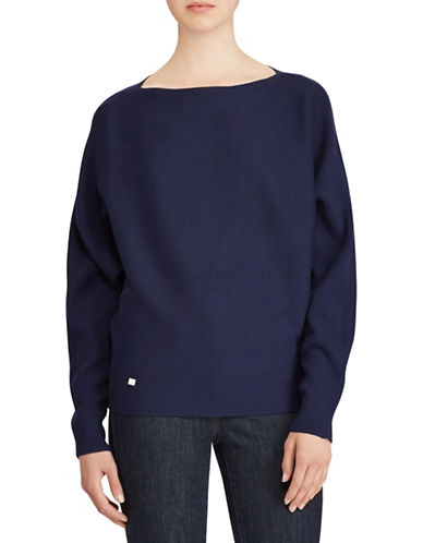 Lauren Ralph Lauren Dolman-Sleeve Sweater-BLUE-Medium