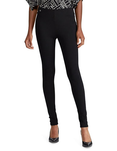 Lauren Ralph Lauren Seamed Ponte Leggings-RL NAVY-Small