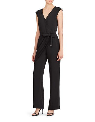 Lauren Ralph Lauren Wide-Leg Crepe Jumpsuit-BLACK-4