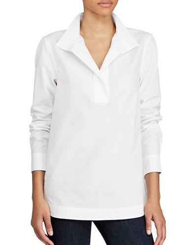 Lauren Ralph Lauren Cotton Poplin Tunic-WHITE-Large