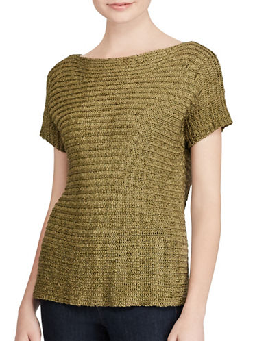 Lauren Ralph Lauren Short Sleeves Sweater-GREEN-X-Small