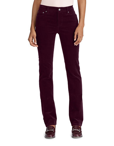 Lauren Ralph Lauren Premier Straight Corduroy Jeans-RED-12