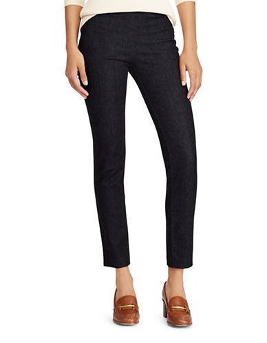Lauren Ralph Lauren High-Rise Denim Skinny Pants-BLUE-6