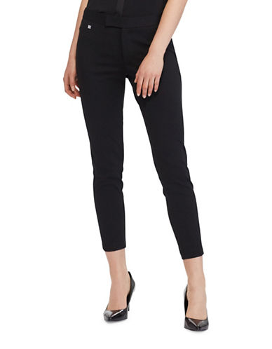 Lauren Ralph Lauren Uburto Mid-Rise Straight Pants-BLACK-X-Small