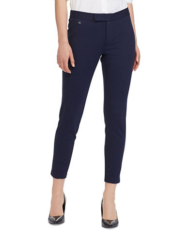 Lauren Ralph Lauren Uburto Mid-Rise Straight Pants-NAVY-Medium