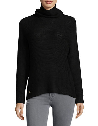 Lauren Ralph Lauren Long Sleeve Turtleneck Sweater-BLACK-Medium