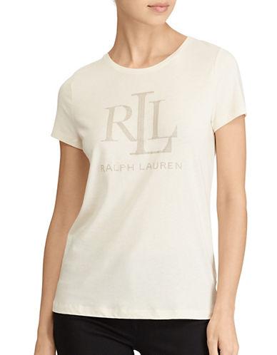 Lauren Ralph Lauren Petite Logo Jersey T-Shirt-NATURAL-Petite Small