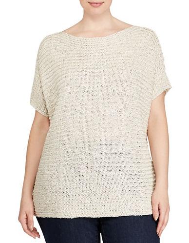 Lauren Ralph Lauren Plus Darby Short Sleeve Sweater-NATURAL-2X