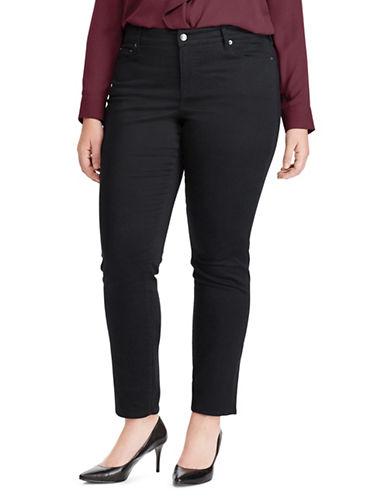 Lauren Ralph Lauren Plus Premier Straight Sateen Jeans-POLO BLACK-16W