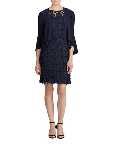 Lauren Ralph Lauren Jersey Bell Sleeve Cardigan-BLUE-X-Small
